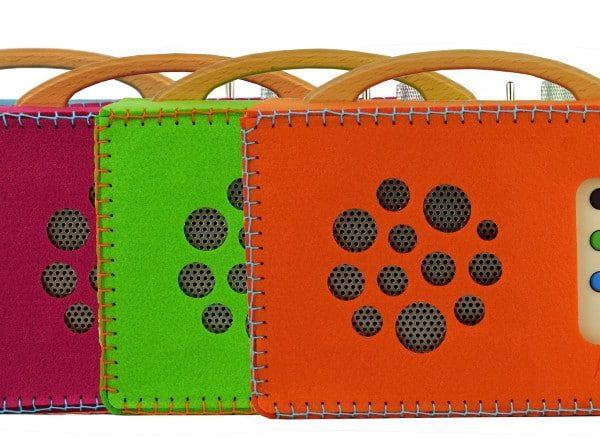 Filztaschen für hörbert in vier Farben zum selber nähen