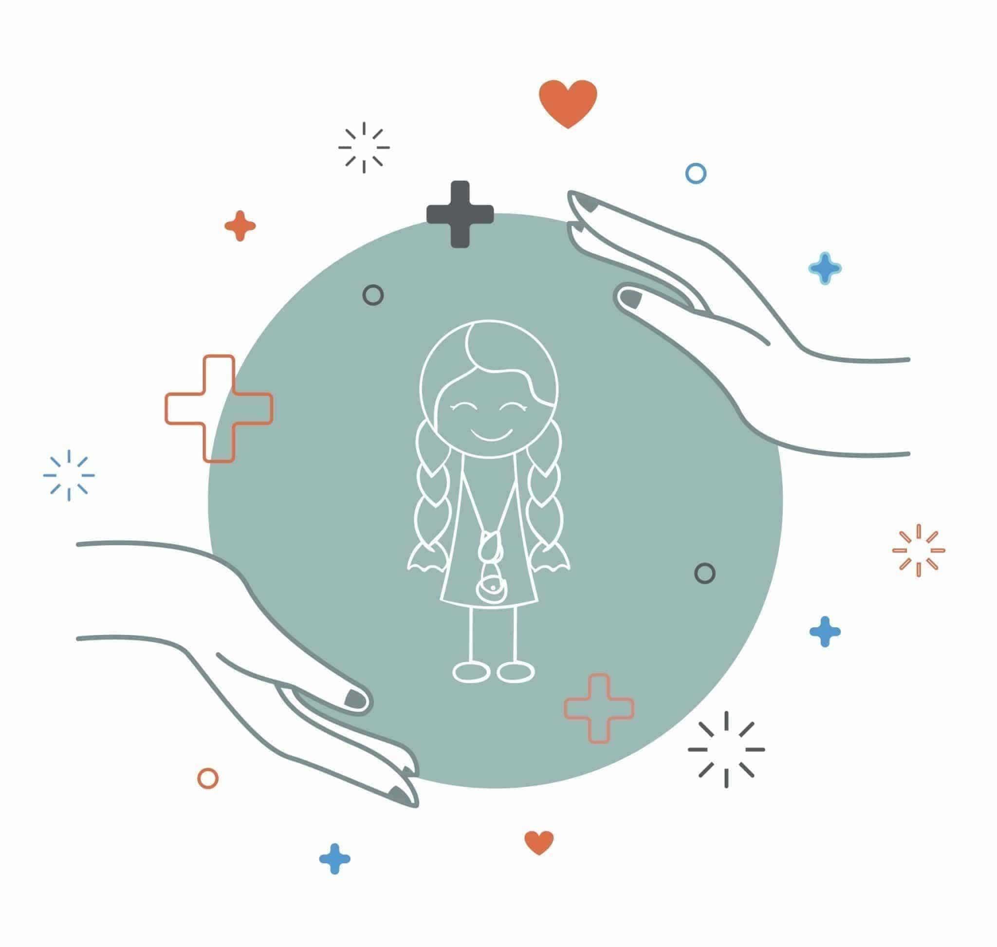 Illustration : enfant à l'intérieur d'un cercle