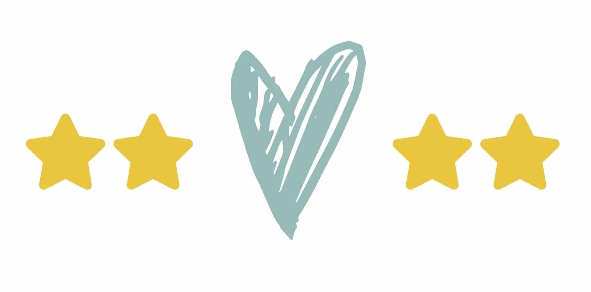 Illustration: Herz und Sterne