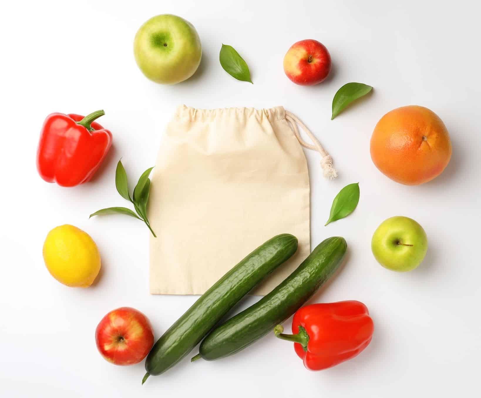 Fruits et légumes sans plastique